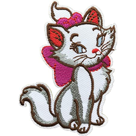 GLAMOUR KITTY CAT  Iron On Sew On Embroidered Patch