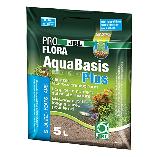 JBL Mezcla de Suelos Duradera, acuarios de Agua Dulce, AquaBasis Plus, 5 l