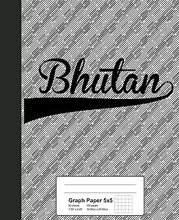 Graph Paper 5x5: BHUTAN Notebook