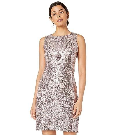 Vince Camuto Bateau Sequin Shift Dress (Blush) Women