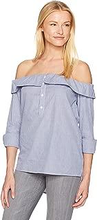 قميص Lucca Couture نسائي بدون كتف ذو أزرار