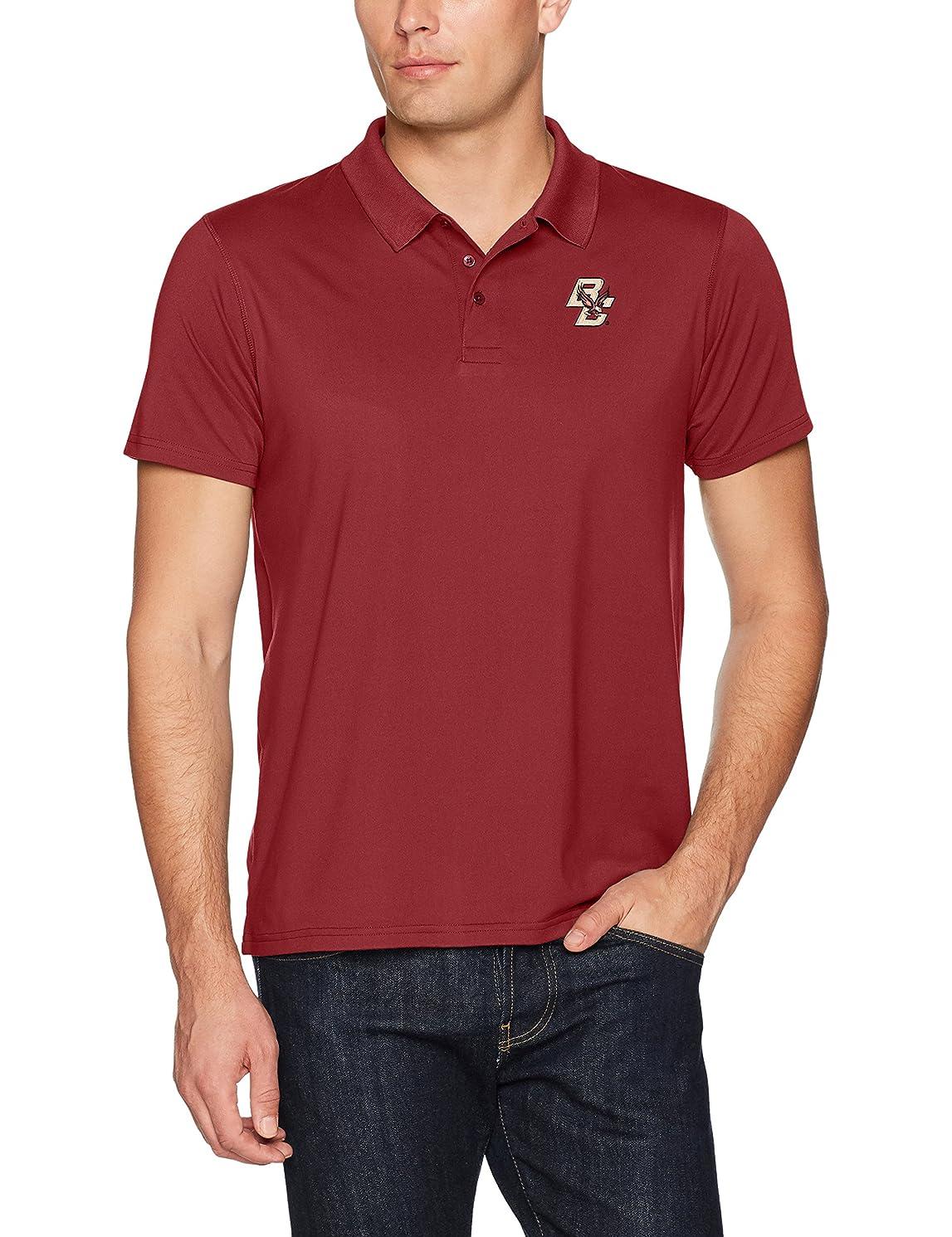 OTS NCAA Adult Men's NCAA Men's Sueded Short Sleeve Polo Shirt