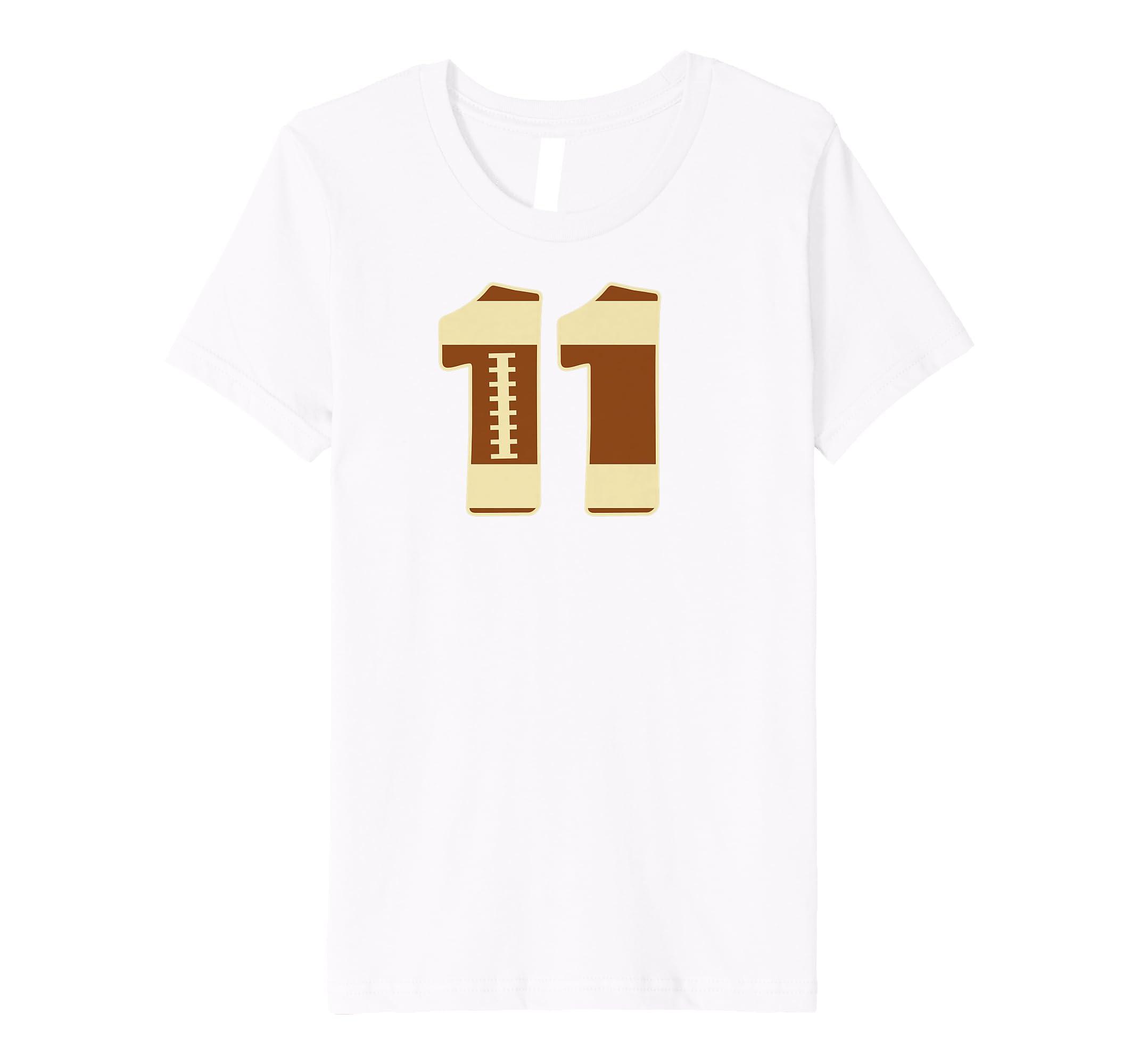 b80b9108 Amazon.com: Number #11 Football Team Shirt - American Rugby Field Ball:  Clothing