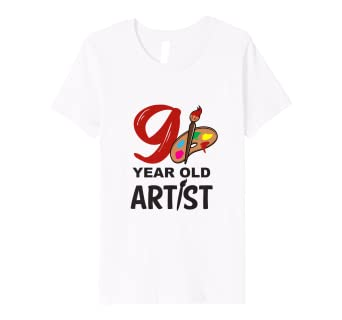 Amazon Com Kids Art T Shirt 9 Year Old Artist Birthday Tee Clothing