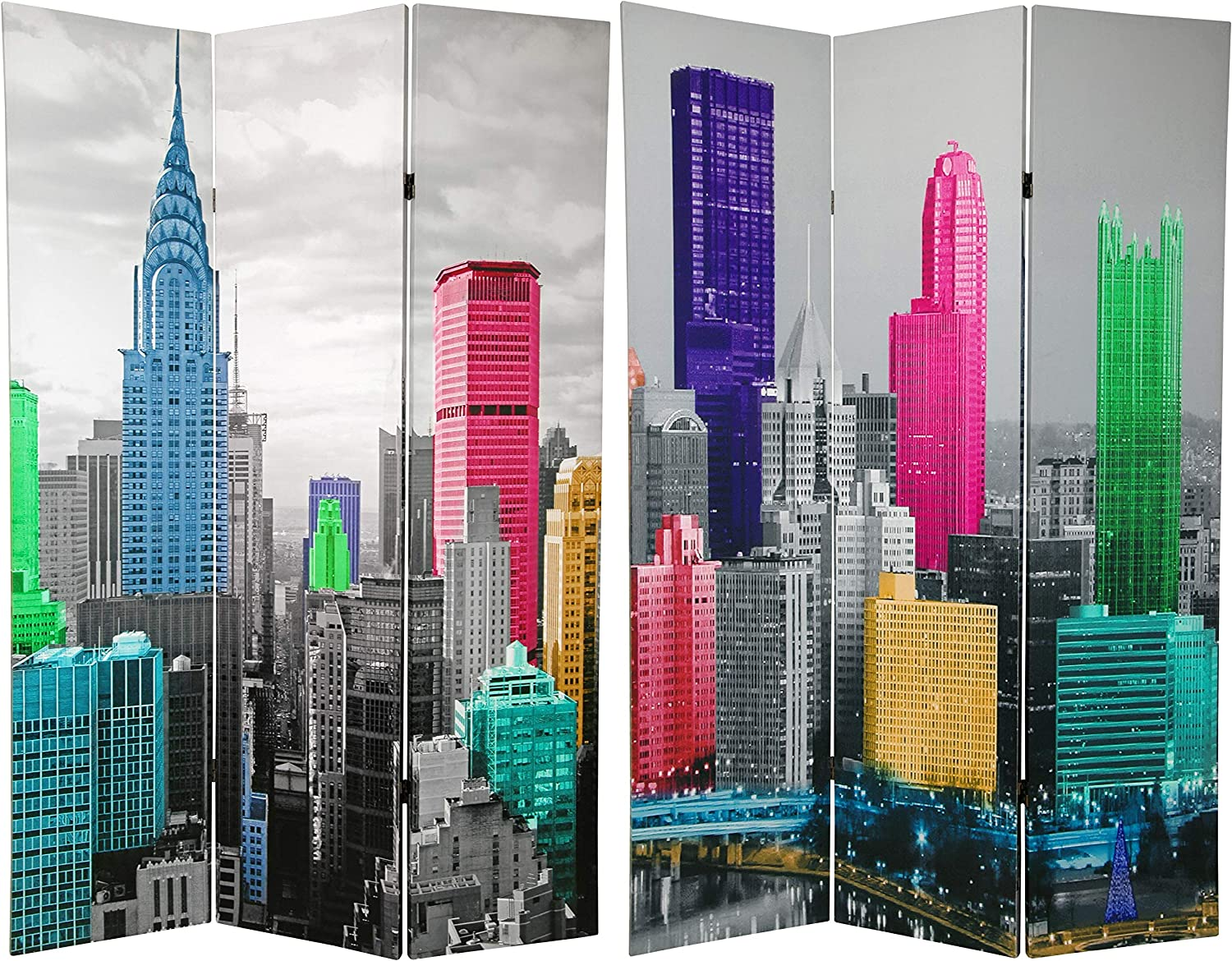 Oriental Furniture 6 Today's only ft. Tall Spring new work one after another Colorful Scene Divid Room New York
