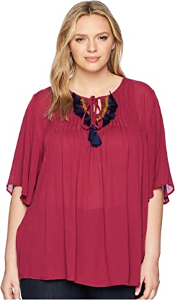 Plus Size Michalina Blouse with Trim