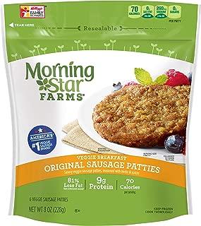 Morningstar Farms, Veggie Breakfast, Original Sausage Patties, Vegetarian, 8 Ounce