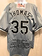 Frank Thomas Chicago White Sox Signed Autograph Grey Custom Jersey Embroidered Stat JSA Certified