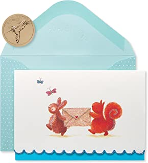 Best Papyrus Blank Cards with Envelopes, Bunny & Squirrel (14-Count) Review
