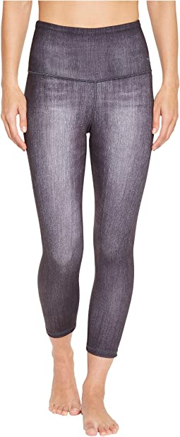 Indigo High-Rise Crop Pants