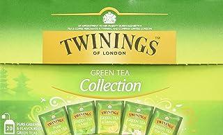 Twinings Green Tea Selection Grüntee, Teebox 5 verschiedenen Twinings Grüntees. Pure Green Tea, Green Tea & Lemon, Green Tea & Apple, Jasmine Green Tea, Green Tea & Orange 2er Pack 2 x 34 g