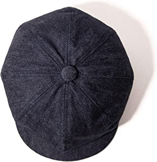 Men Winter Cold Weather Newsboy Flat Cap Stylish Hat with Adjustable Buckle