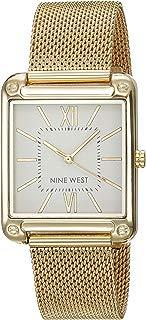 Nine West NW2090SVGB Reloj Análogo para Mujer, color Blanco/Oro