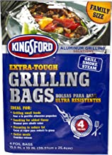 Kingsford Extra Tough Aluminum Grill Bags, For Locking in Flavors & Easy Grill Clean Up, Recyclable & Disposable, 15.5