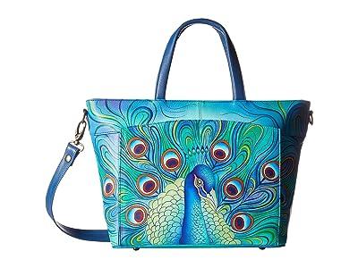 Anuschka Handbags Large Organizer Tote 635 (Jeweled Plume) Handbags