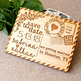 shabby chic save the date magnets