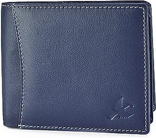 HORNBULL Men's Leather Navy Blue Wallet