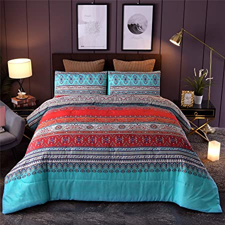 Trapuntino Single Cotton Ambrosian Bedspread Half Season 1 Blue Square