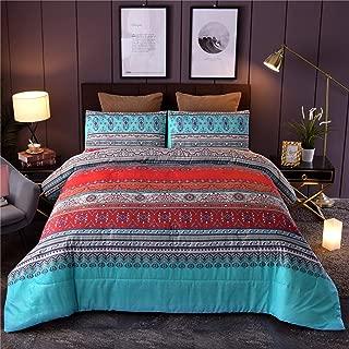 A Nice Night Boho Floral Mandala Paisley Bohemian Comforter Set, Colorful Boho Chic Medallion Exotic,Soft Microfiber Queen Bedding Set (Boho-Multi)