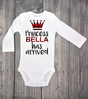 The princess has arrived Custom name - Come home - newborn headband - take home outfit - come home outfit - custom bodysuit - baby headband - baby gift - babyshower gift - newborn bodysuit