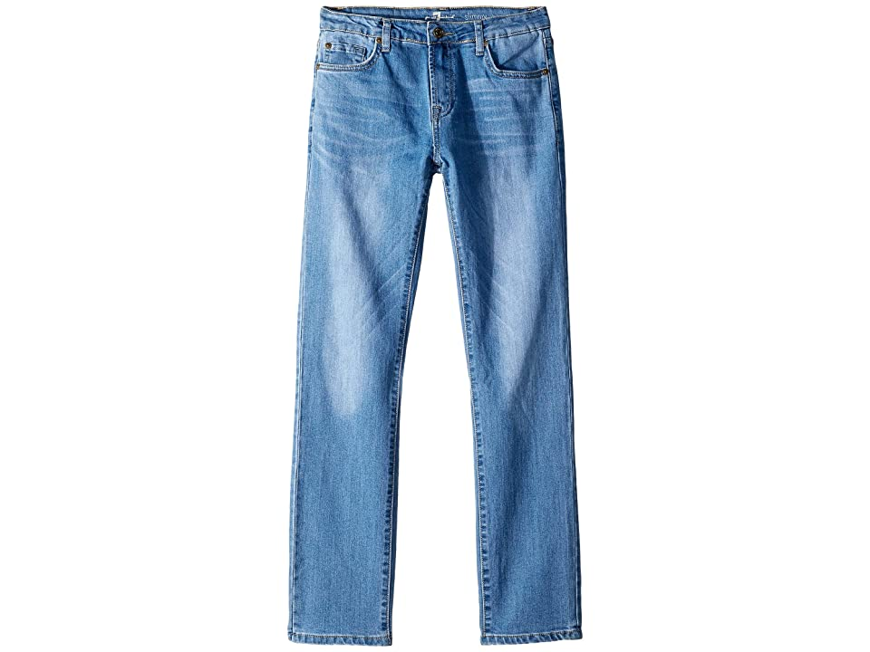 Image of 7 For All Mankind Kids Airweft Denim Slimmy Stretch Denim Jeans in Synergy (Big Kids) (Synergy) Boy's Jeans
