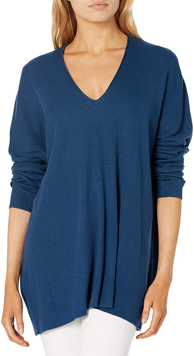 Anne Klein Women's Vneck Max 85% OFF Ribbed Sweater Drop Pullover Shoulder New product! New type