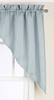 United Curtain Hamden Woven Waffle Swags, 55 by 38-Inch, Blue, Set of 2