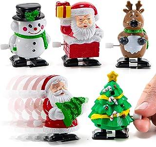 Prextex Christmas Wind up Stocking Stuffers- Santas Christmas Tree Deer and and Snowmen Wind up Stocking Stuffers
