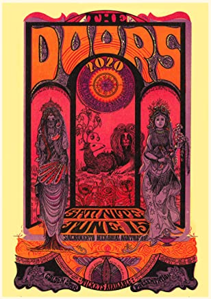 Pixiluv Calendario da Parete 2019[12Pagine 20,3x 27,9cm] Le Porte Vintage Musical Psychedelic manifesti Jim Morrison