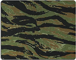 Liili Mouse Pad Natural Rubber Mousepad Image ID: 20126844 US Vietnam Green tigerstripe Camouflage Fabric Texture Background