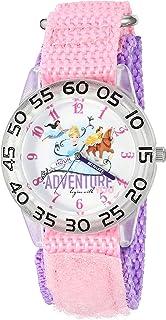 ساعة ديزني سندريلا، كوارتز البلاستيك والنايلون للبنات - اللون: زهري موديل W002953