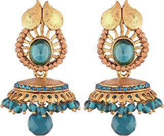 I Jewels High Gold Plated Jhumki/Jhumkas Earrings for Women (E2438SB)