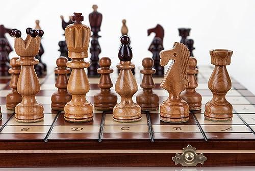 grandes ahorros Presidente - grande 45cm 17,8 en hechos hechos hechos a mano el conjunto del ajedrez madera cerezo  buena calidad