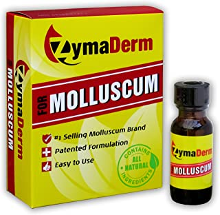 ZymaDerm for Molluscum, Natural, Fast, Gentle, Painless – FDA Registered, Made in USA, 13 milliliter