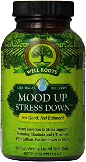 Well Roots Mood Up Stress Down Supplement, 60 Count