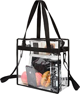 NFL and PGA Stadium Approved Clear Tote Bag with Zipper Closure Crossbody Messenger Shoulder Bag with Adjustable Strap