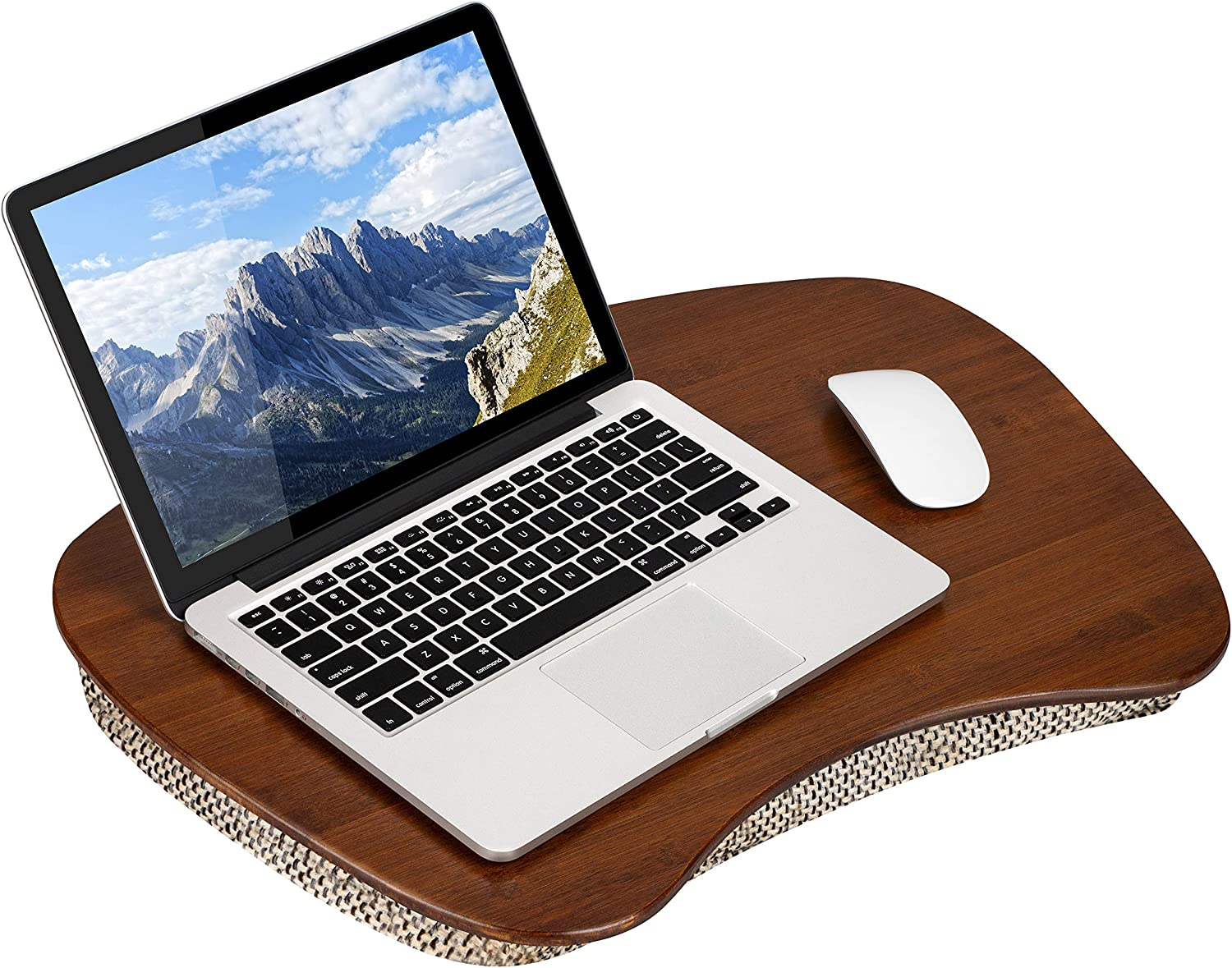 LapGear Bamboo Lap Desk - Under blast sales Chestnut Inch Popular brand in the world up Fits 17.3 to