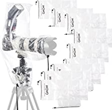 Movo (10 Pack) RC2 Clear Rain Cover for DSLR Camera, Flash, and Lens up to 18