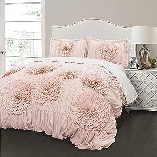 Lush Decor Serena 3 Piece Comforter Set, Full/Queen, Blush