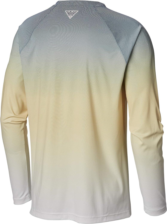 Columbia Mens PFG Terminal Deflector Printed Long Sleeve Shirt