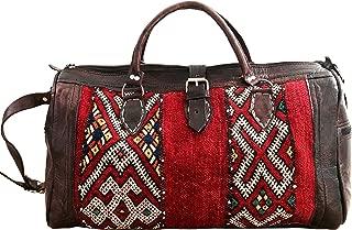 moroccan leather weekend bag