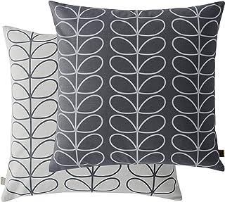 Orla Kiely Liniowa duża poduszka, 50 x 50 cm kolor: Orla Kiely Cool Grey