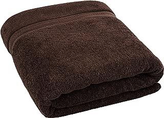 American Bath Towels, 35x70 Oversized 650 GSM Premium Hotel & Spa Quality Organic Turkish Cotton Bath Sheet for Softness & Absorbency, Dark Brown