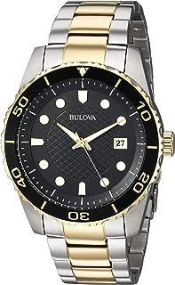 Men's 98A199 Analog Display Quartz Two Tone Watch