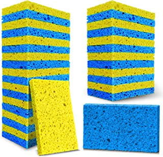 Sponsored Ad - MASTERTOP Scrub Sponges - 32 Pack Cellulose Sponges, Kitchen Non-Scratch Cleaning Scrub Sponge, Multi-Funct...