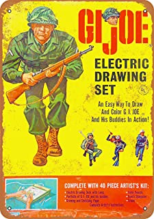 Wall-Color 7 x 10 Metal Sign - 1965 GI Joe Electric Drawing Set - Vintage Look
