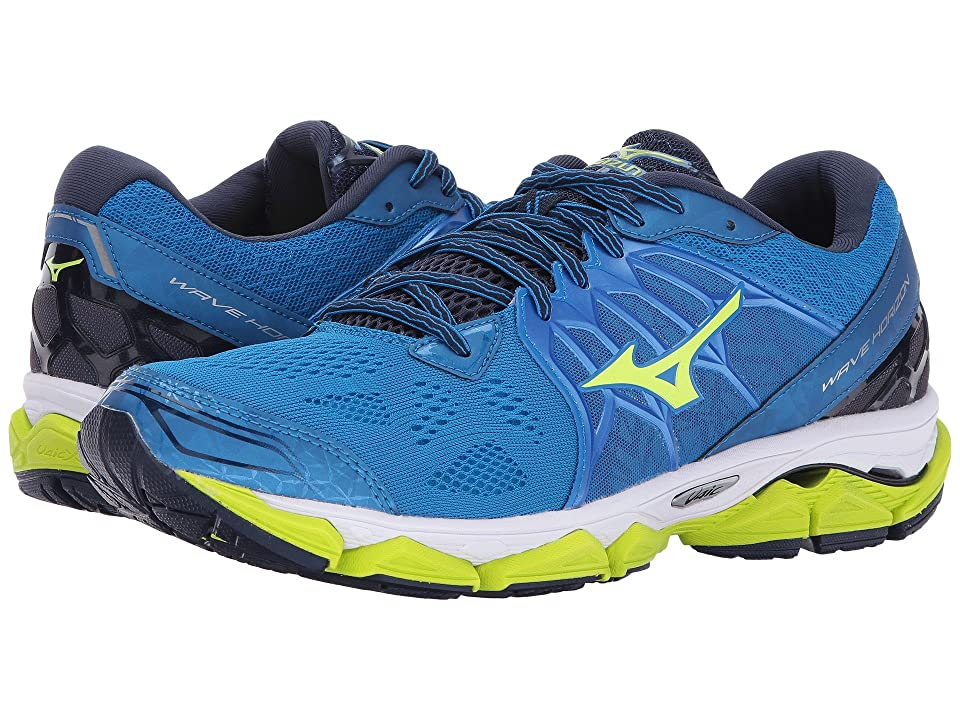 Mizuno Wave Horizon (Directoire Blue/Safety Yellow/Peacoat) Boys Shoes
