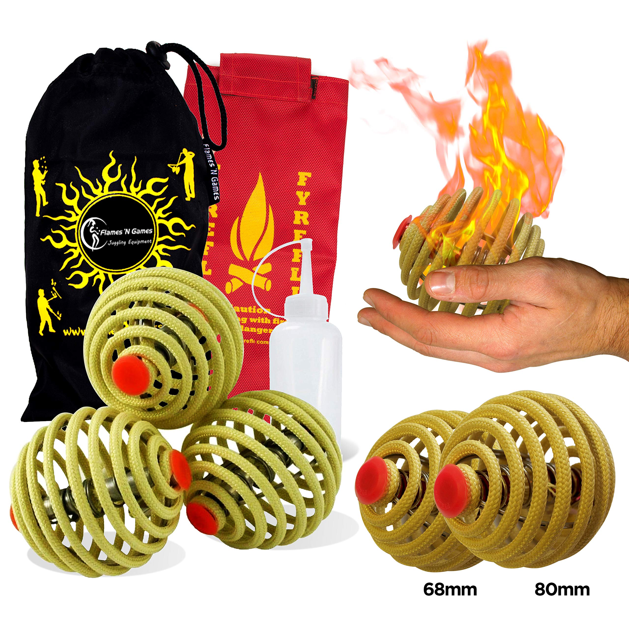 Flames N Games Commando White Camo Flowerstick Juggling Sticks Flower Stick Set with Wooden Hand Sticks and Travel Bag! Flames N Games