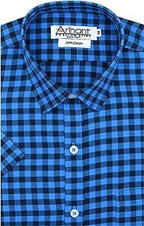 Arihant Checkered 100% Cotton Half Sleeve Regular Fit Formal Shirt for Men
