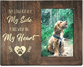 Ku-dayi No Longer by My Side Forever in My Heart, Pet Memorial Remembrance Picture Frame, Solid Wood Sympathy Loss of Dog Pet Photo Frame Gift Idea
